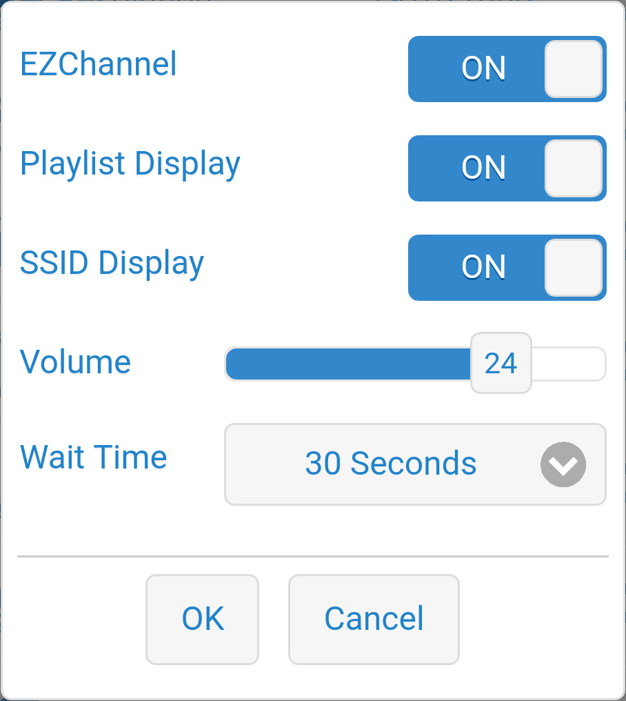 Dongle settings when using EZChannel.
