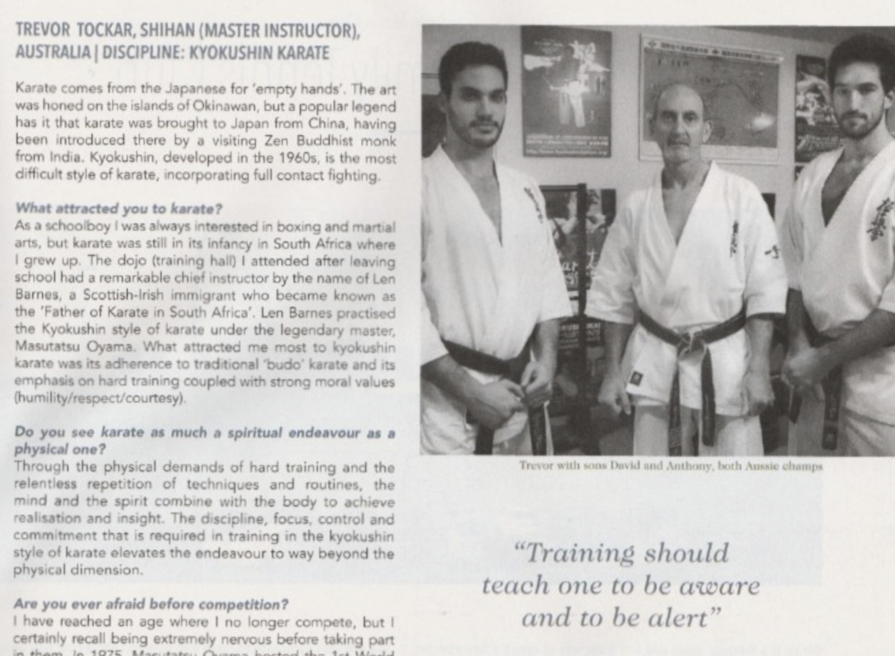 Read  Verve article with shihan Tockar