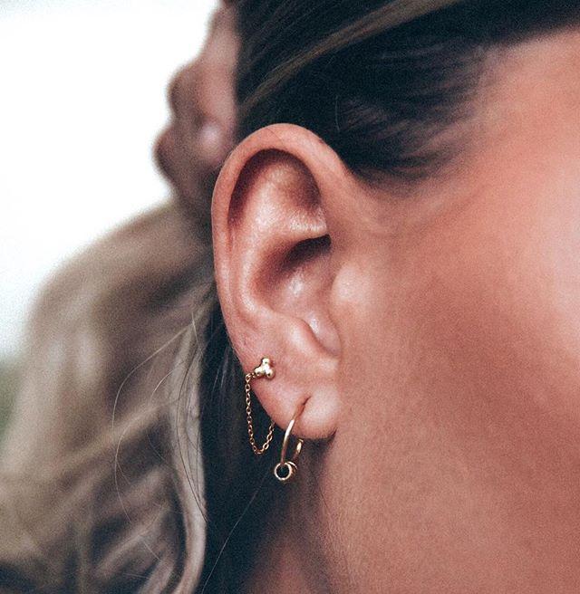 PAIR UP - The NYC hoops & the Simple Living earrings 🔥💋🙌🏻 #Henesii
