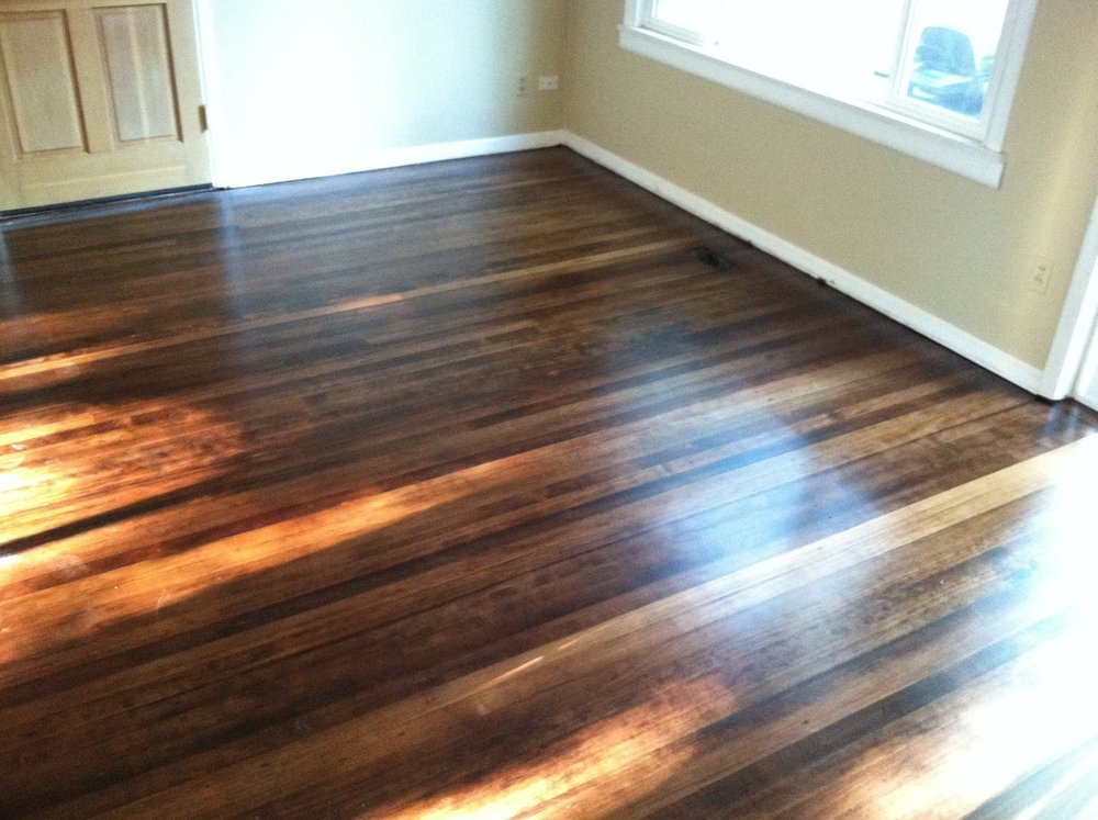 OLD FIR HARDWOOD STAINED COFFEE BROWN