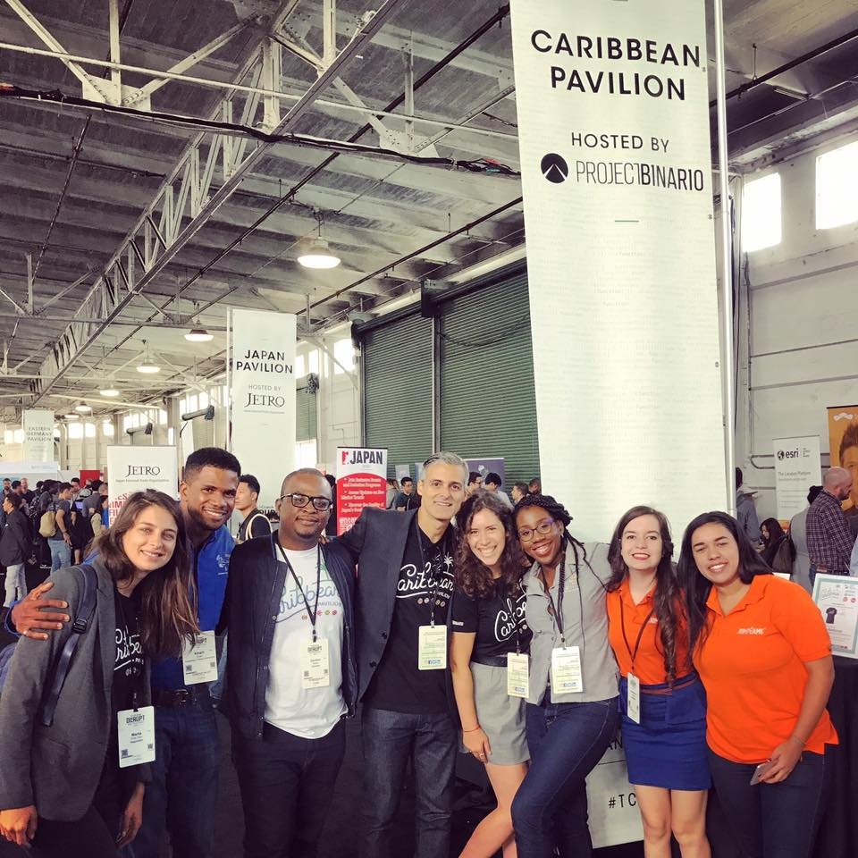 Our Caribbean Pavilion startup founders at TechCrunch Disrupt 2017