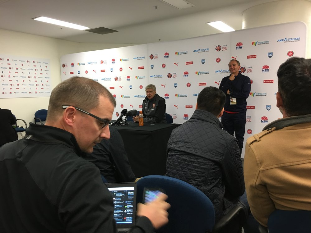 Arsenal Wenger press conference
