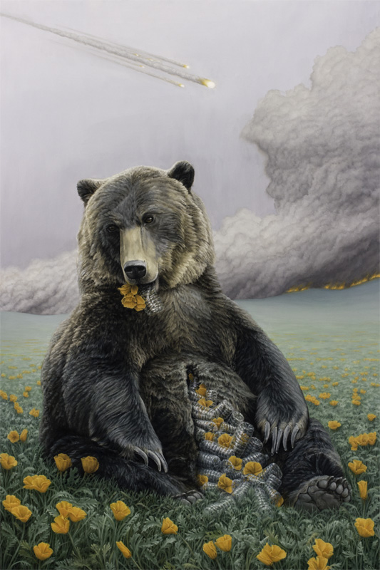 "in the house of the bear  oil on canvas | 24"" x 36"" 