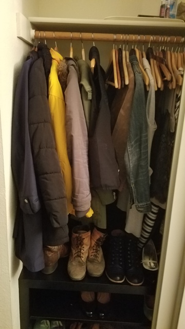 Moved the coats to my closet