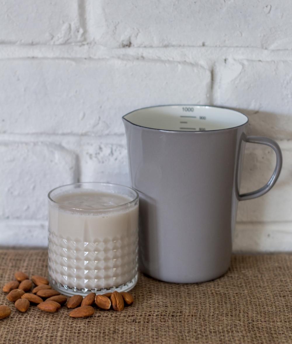 Creamy almond milk is a great milk alternative