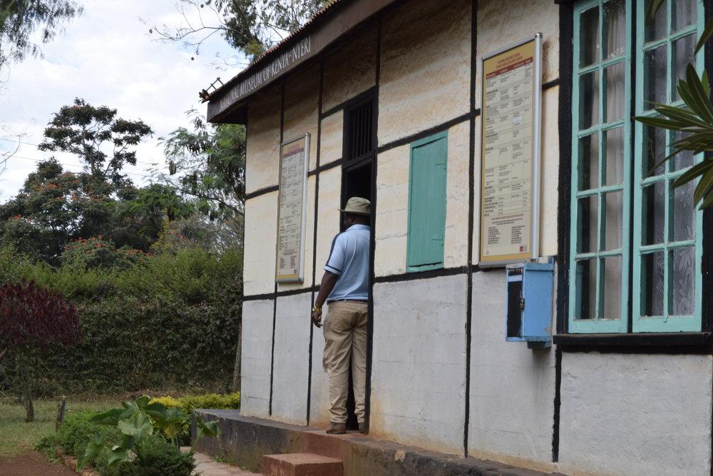 Anthony Maina outside Nyeri Museum