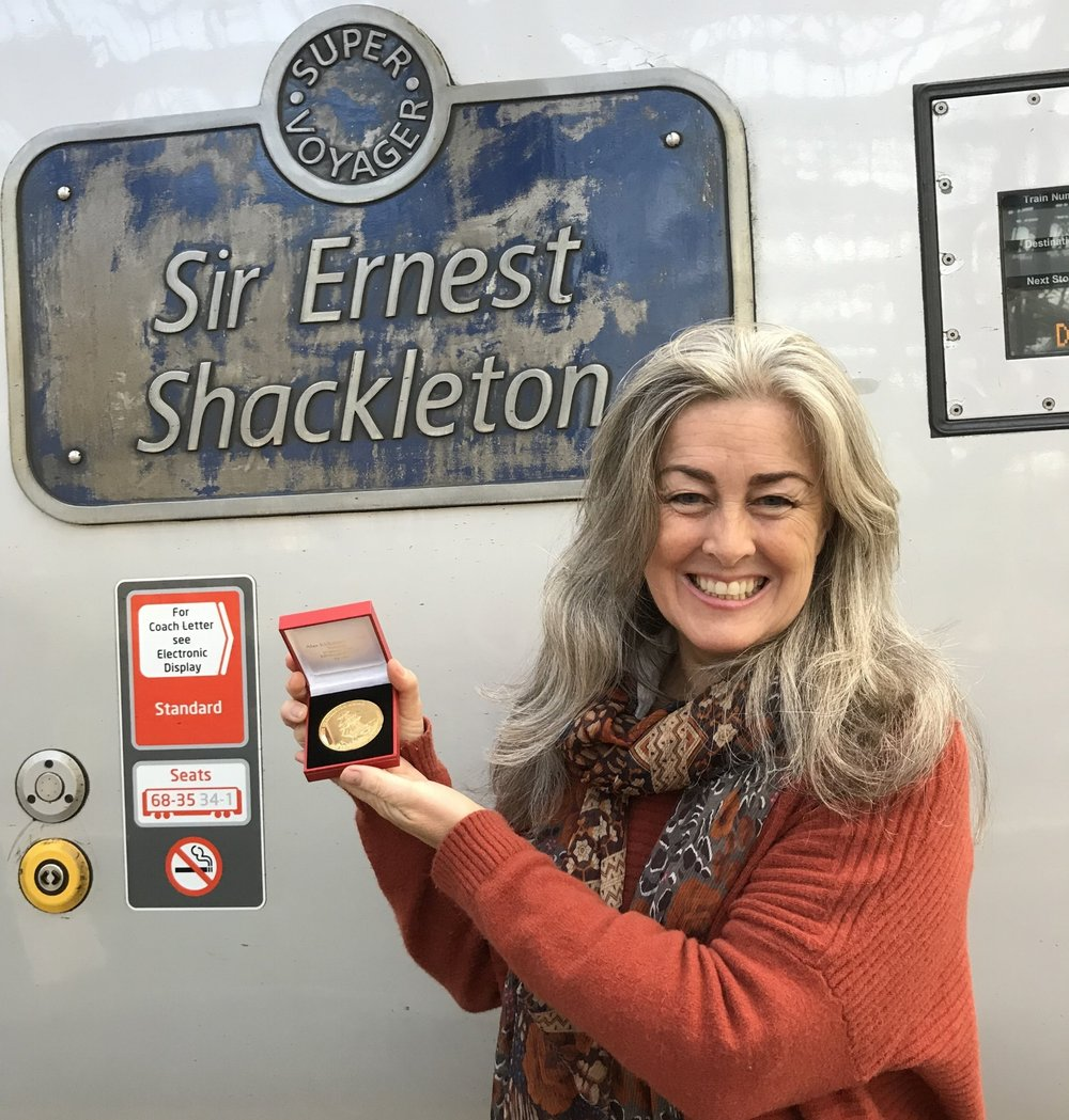 Shackleton medal and train.jpg