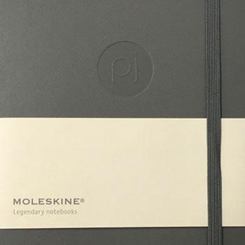 blind embossed notebook