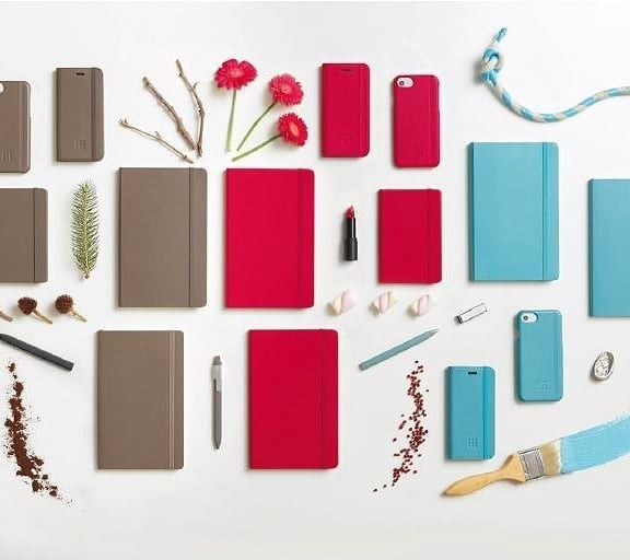 Flexible cover and a range of bright colour to play with #moleskine #brightcolours #notebooks