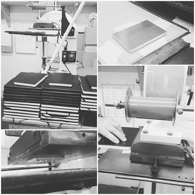 Blind debossing is our most popular form of customisation. #Moleskine #blinddeboss #notebooks @greatwhiteprinting