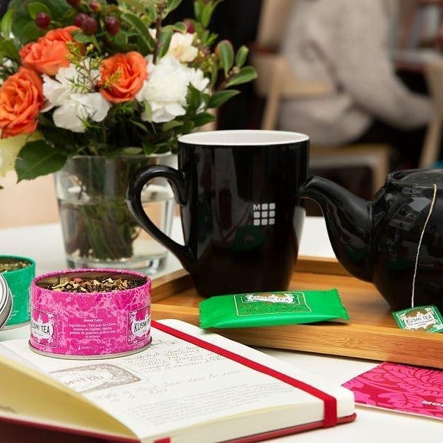#KusmiTea choses #Moleskine. Start telling your story!