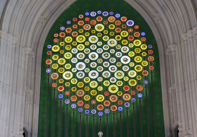 Mary Branson's sculpture celebrating the work of the suffrage movement in Westminster Hall