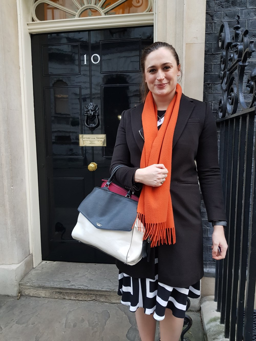Georgia at a meeting at Downing Street
