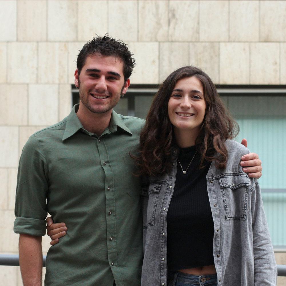 Albert Reverendo i Alba Lafarga - Coordinadors d'estudiants col.laboradors