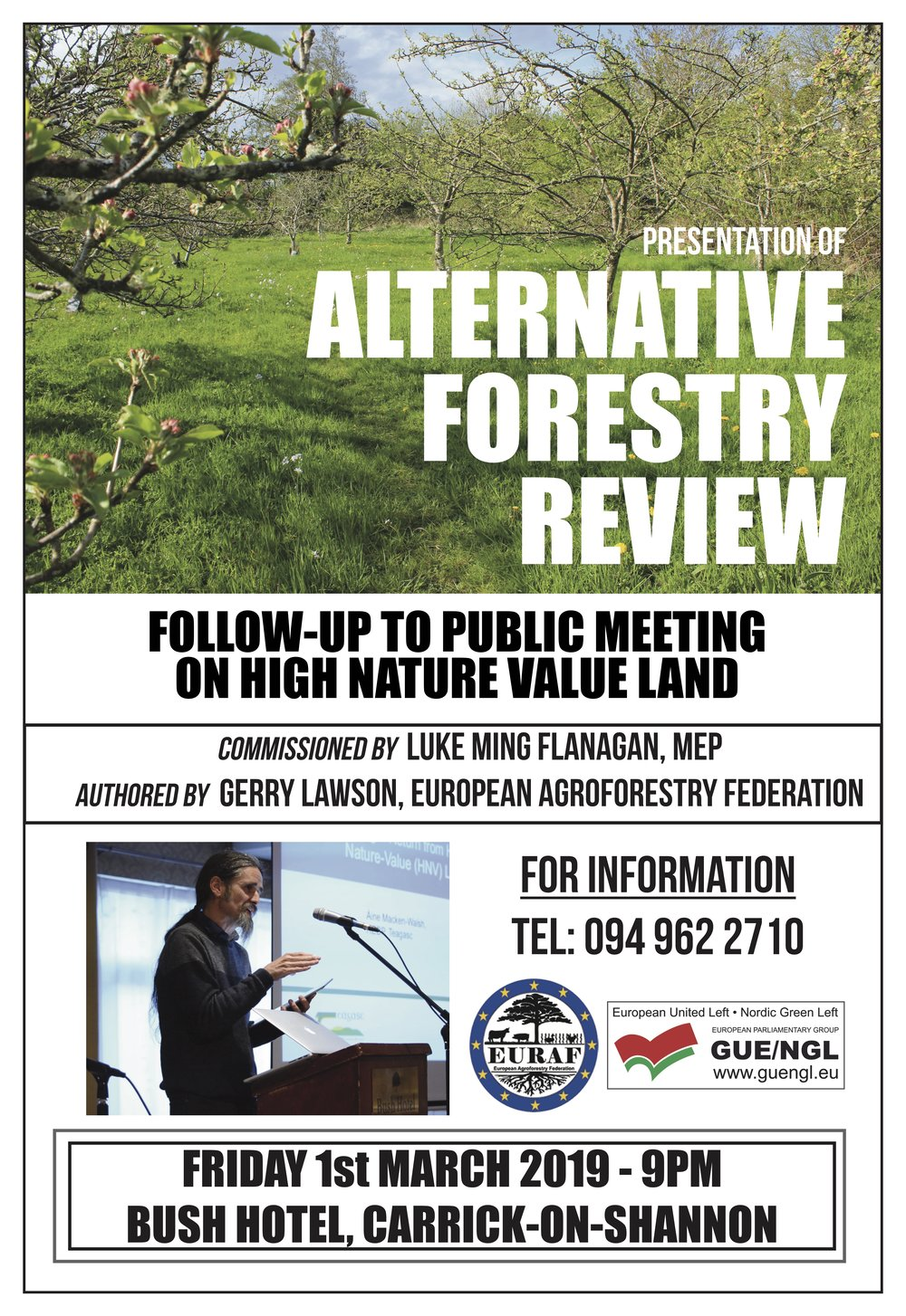 Evaluation of the Midterm Review of the Irish Forestry Programme 2014 - 2020 - By Gerry Lawson - EURAF (European Agroforestry Federation)Commissioned by Luke Ming Flanagan MEP