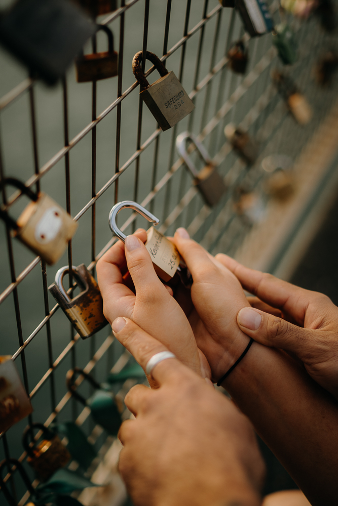 Silo Park, Auckland, Love locks