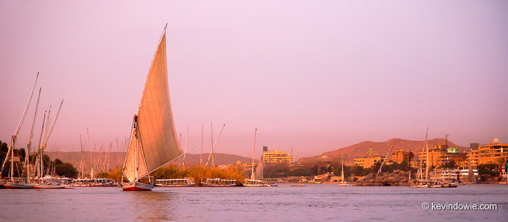 Felucca Twilight, Aswan, Egypt