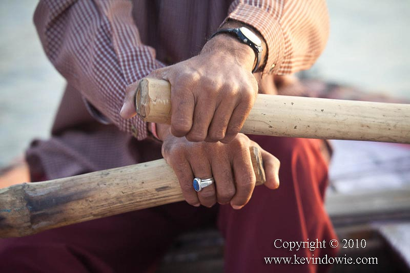 Hands of the boatman, Varanasi.