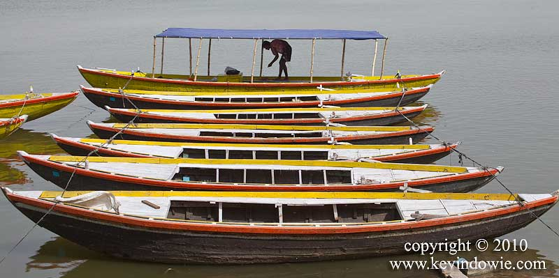 Row of boats, Varanasi.