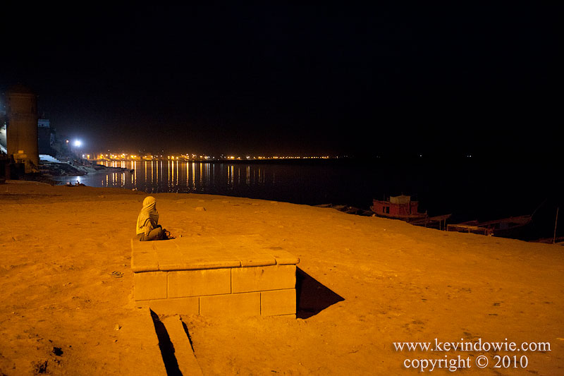 Waiting for sunrise, Varanasi, India.