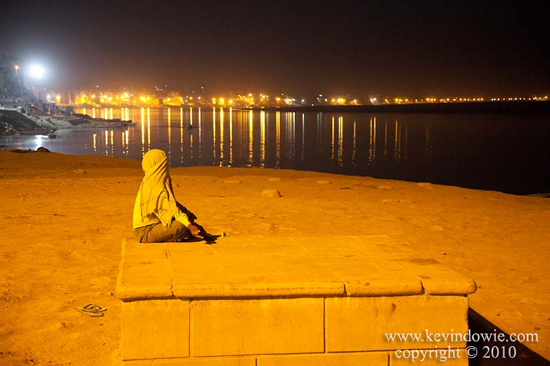 Waiting for sunrise, Varanasi, India. (2)