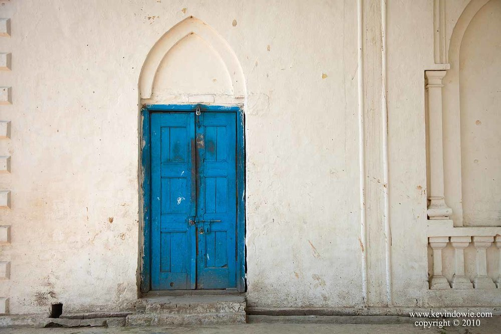 The blue door, Haridwar, India