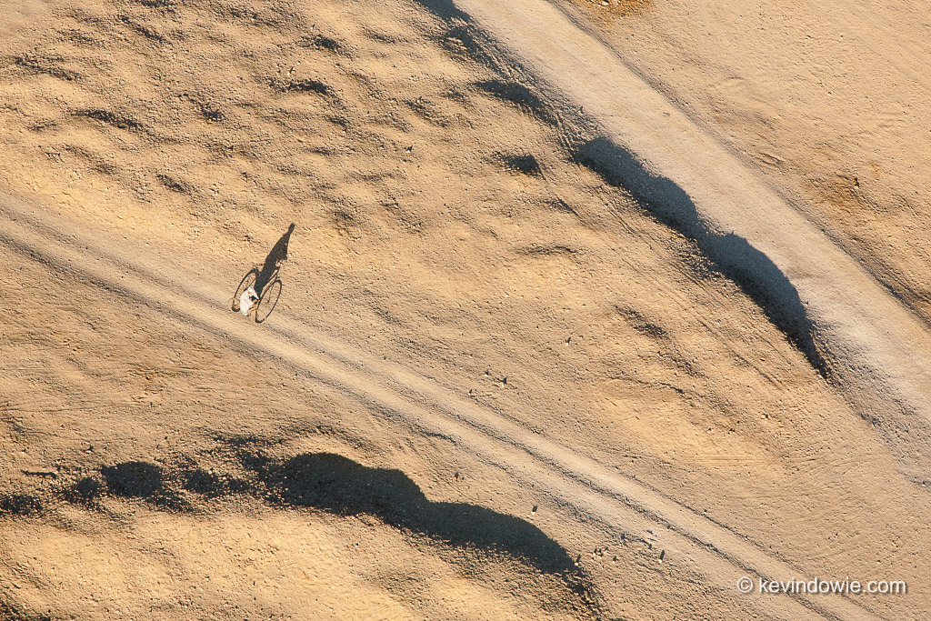 The lone cyclist, Luxor, Egypt.