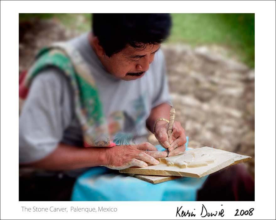 The Stone Carver, Palenque, Mexico