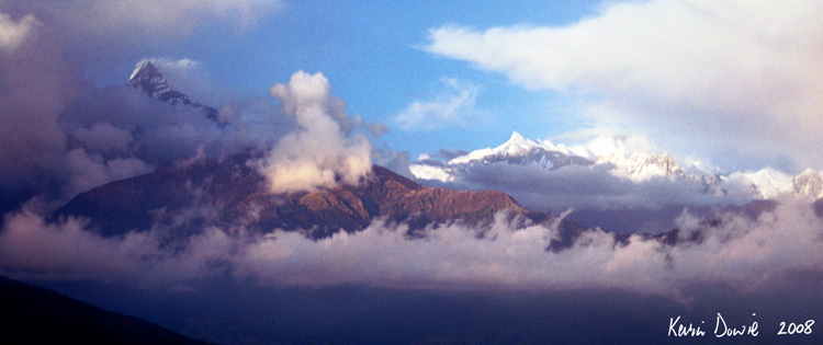 Mountain cloudscape, Nepal