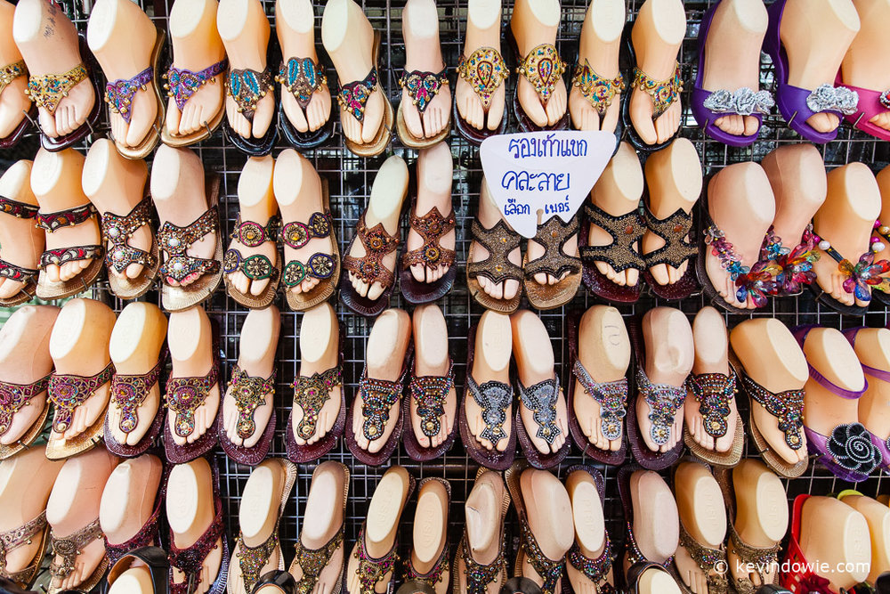 Shoe display, Bangkok, Thailand