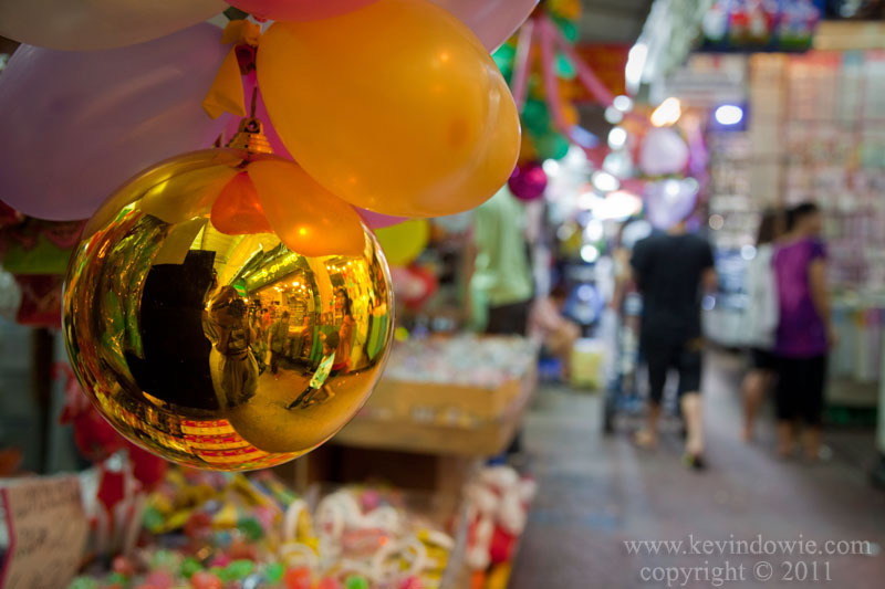 Reflections in a bauble, Bangkok