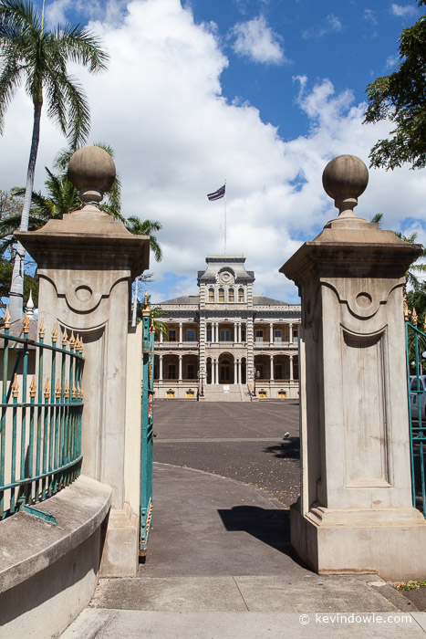 Gates to Iolani Palace