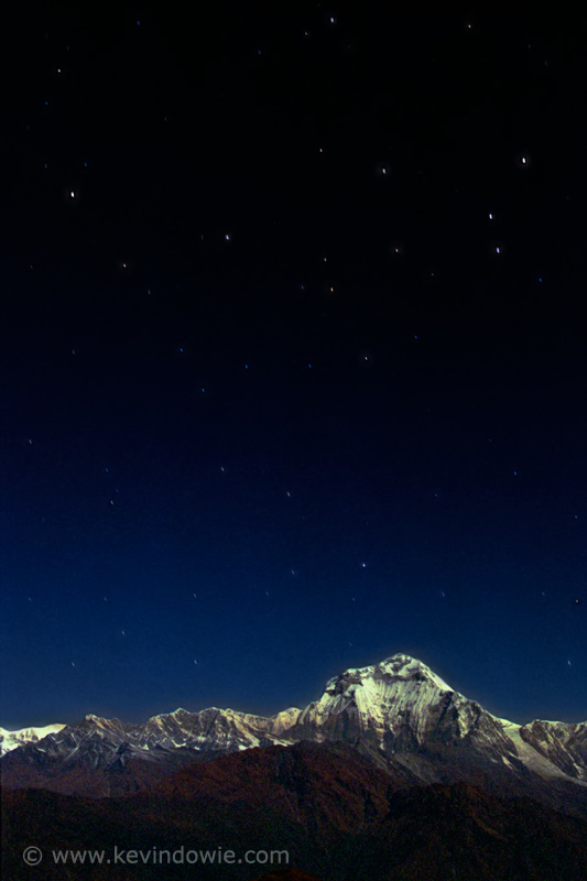Dhaulagiri by moonlight