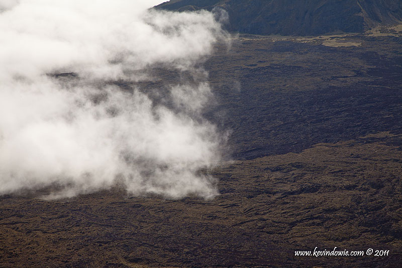 Clouds over the crater floor, Haleakala National Park.