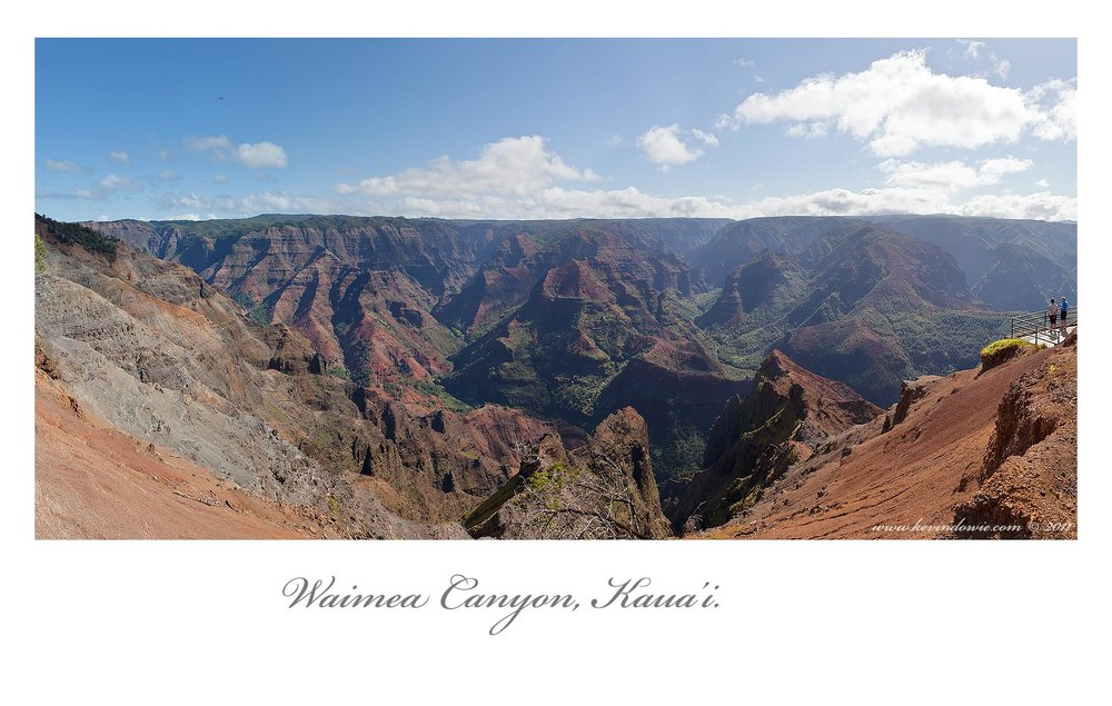 Waimea Canyon panorama.