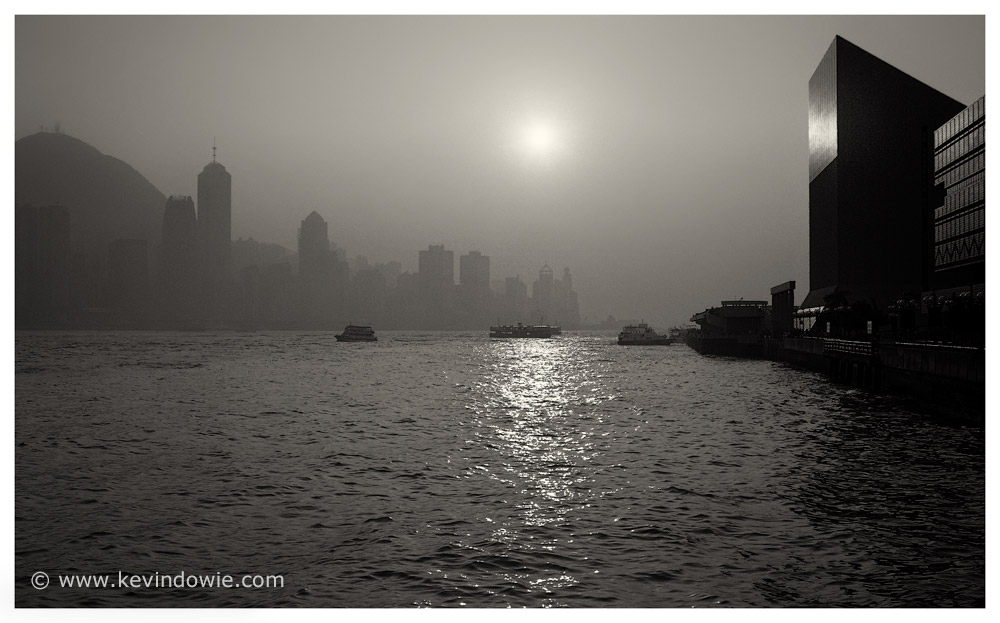 Watery sunset, Hong Kong Harbour