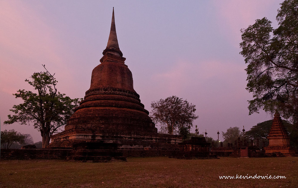 Early evening, Sukhothai, Thailand.