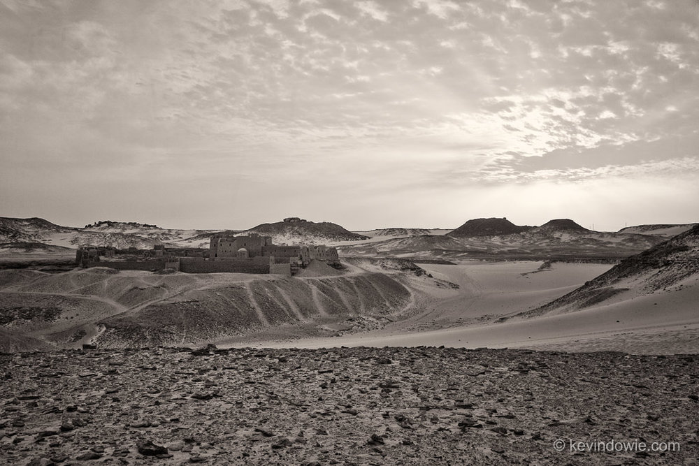 The Old Monastery, Sinai Desert, Egypt, (monochrome).