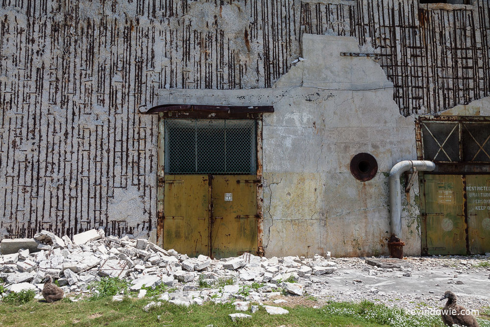 Abandoned bunker exterior, Midway Atoll.