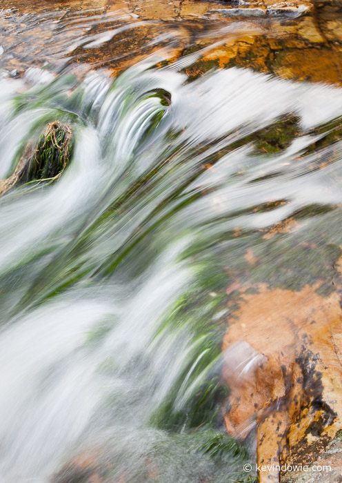 cascading water over rocks, Western Cape, South Africa 2