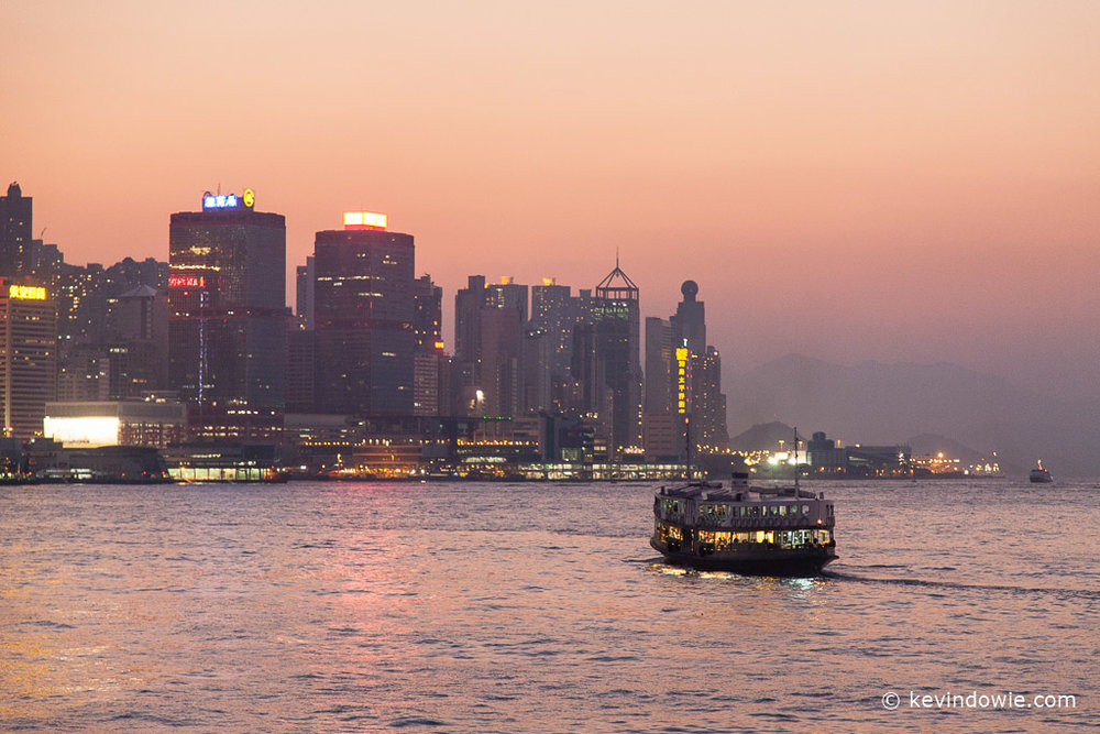 Star Ferry, Hong Kong Harbour at Twilight