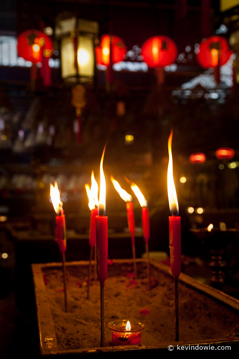 Candles, Man Mo Temple, Hong Kong