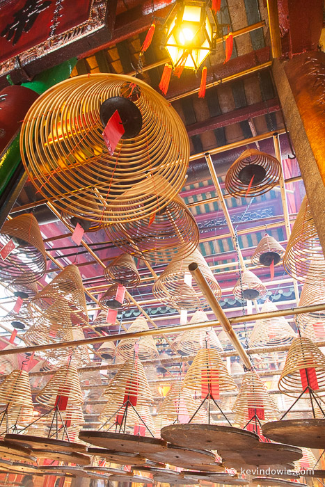 Incense spirals, Man Mo Temple, Hong Kong