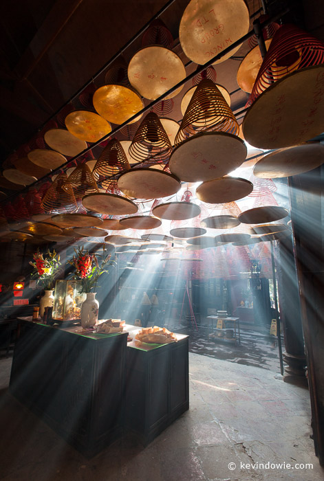 Shafts of light, Tin Hau Temple