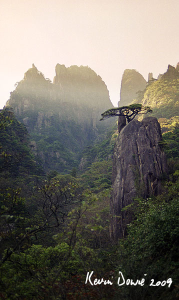 Rocky outcrops, Huangshan Mountains
