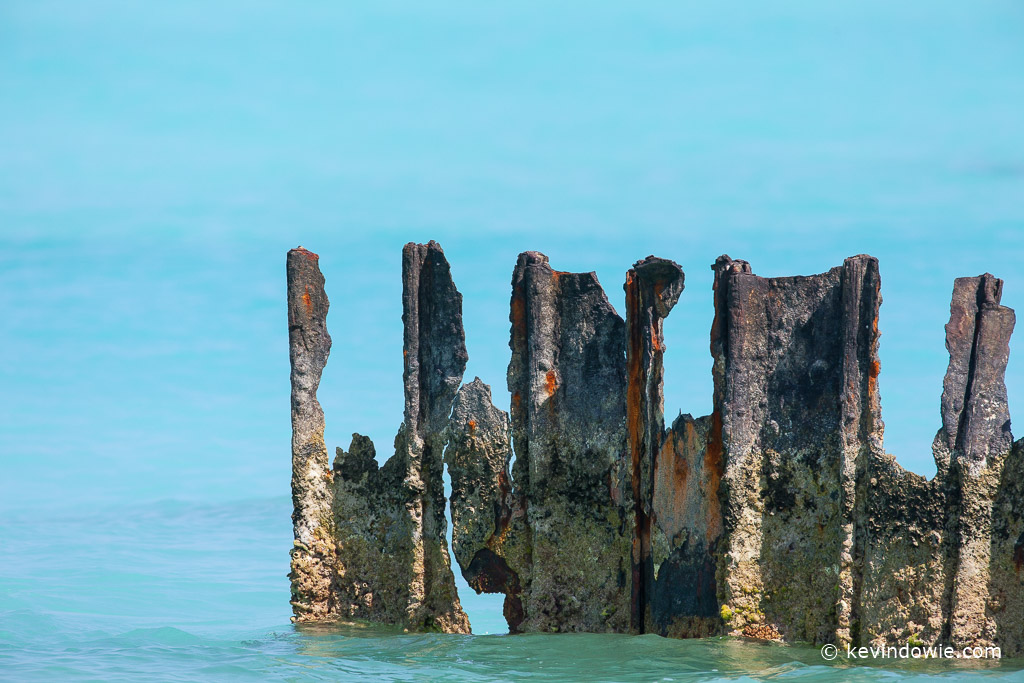 Rusting dock, Midway Atoll.