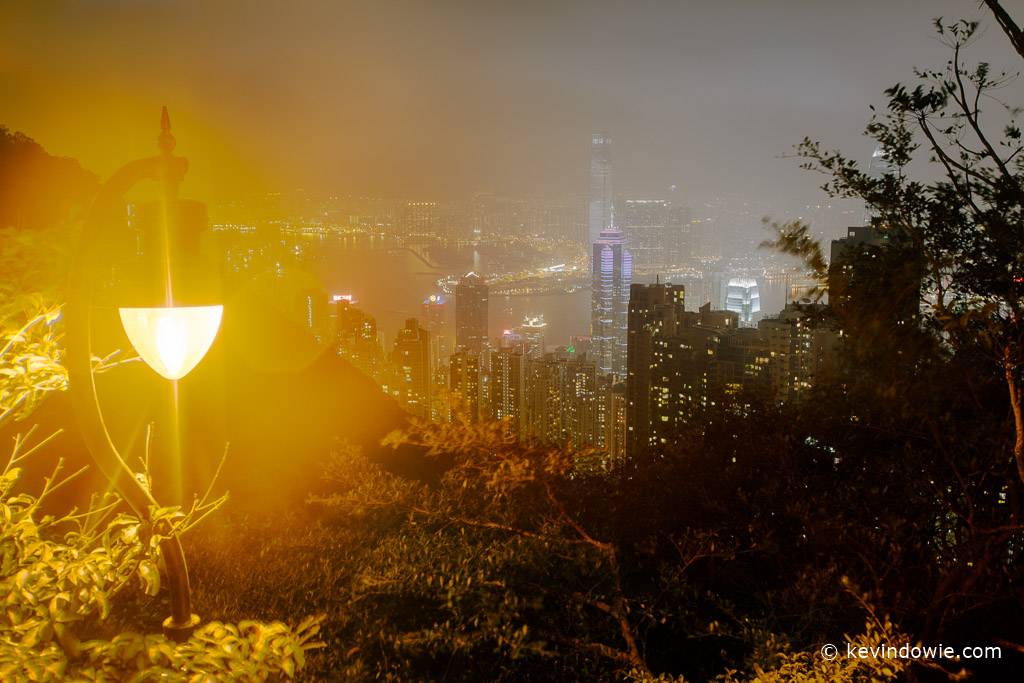 Golden glow, Hong Kong by night