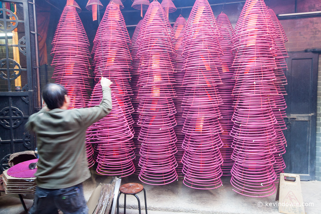 Stacked incense spirals, Tin Hau Temple