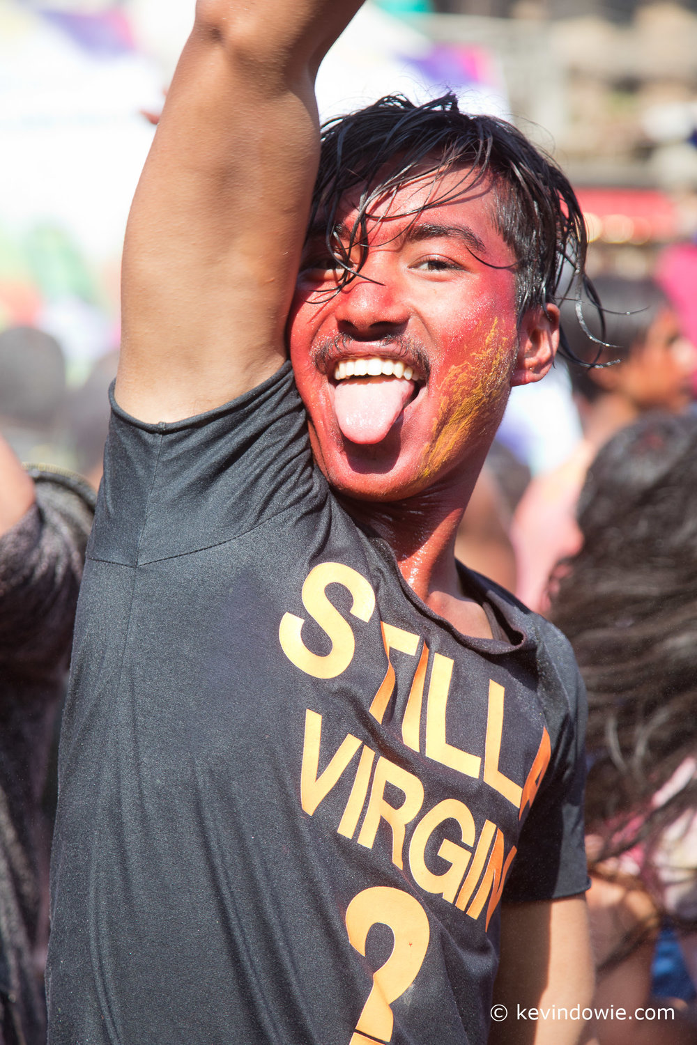 Still a virgin?   A holi reveler.