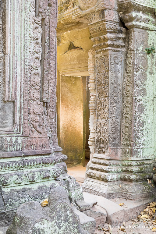 The golden doorway, Ta Phrom, Cambodia